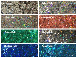 Image of Metallic Square Glitter 1mm