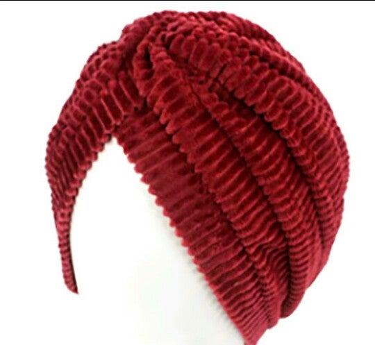 Image of Premium Stretchy Unisex Coral Velvet Turban