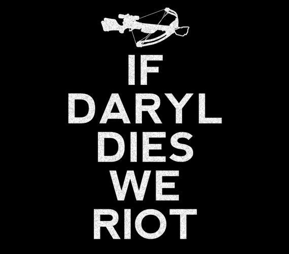 Image of If Daryl Dies We Riot men's and ladies' tee