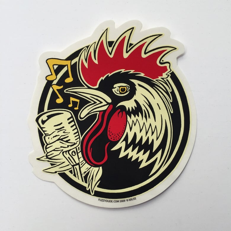 Image of Rockin' Rooster Sticker