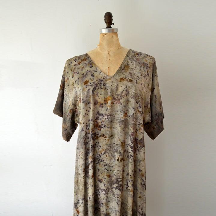Image of Kimono Wrap silk dress