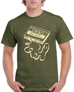 Image of Military Green Buck & Evans Cassette T Shirt