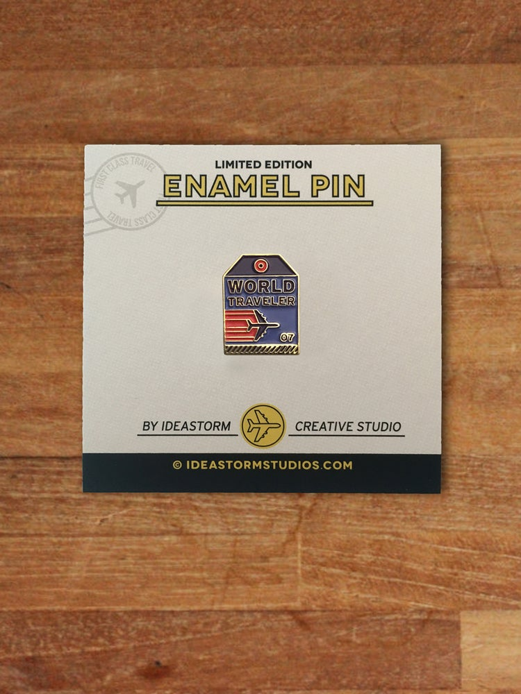 Image of World Traveler Tag Pin