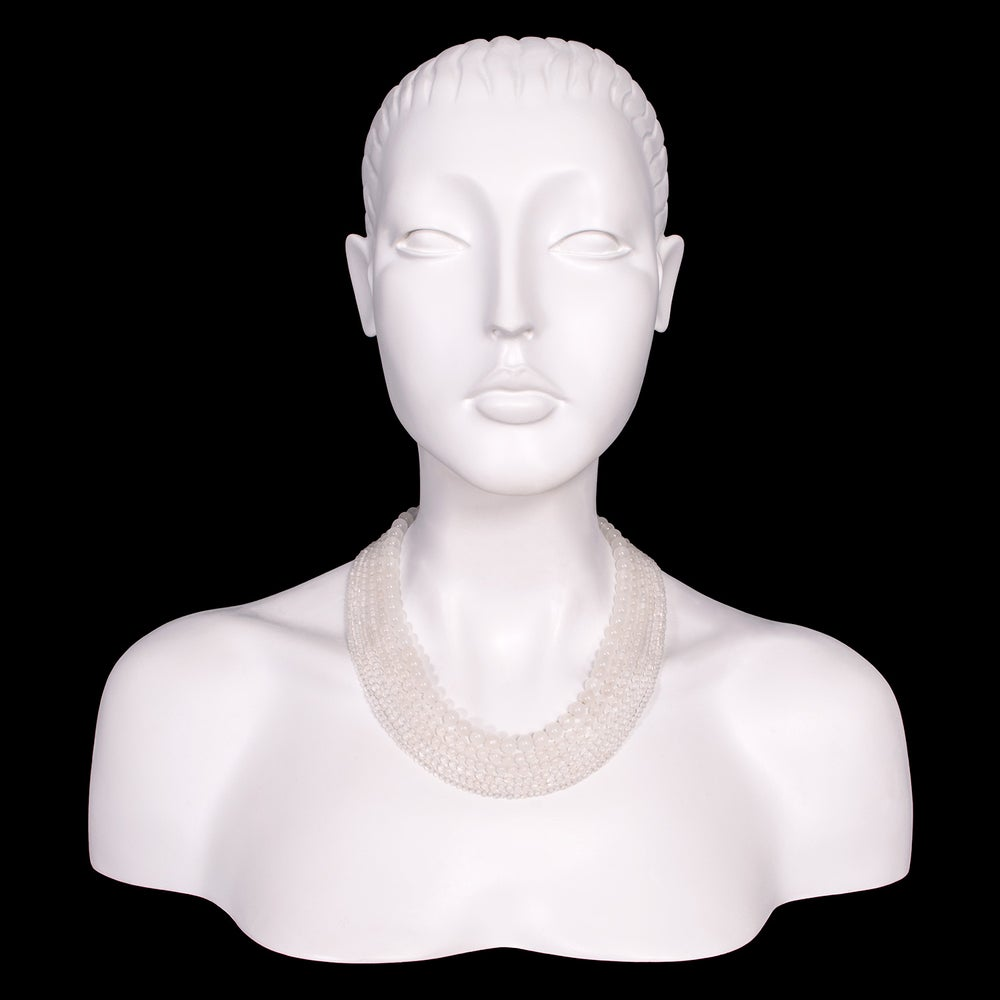 Image of Six Strand Clear Beaded Necklace