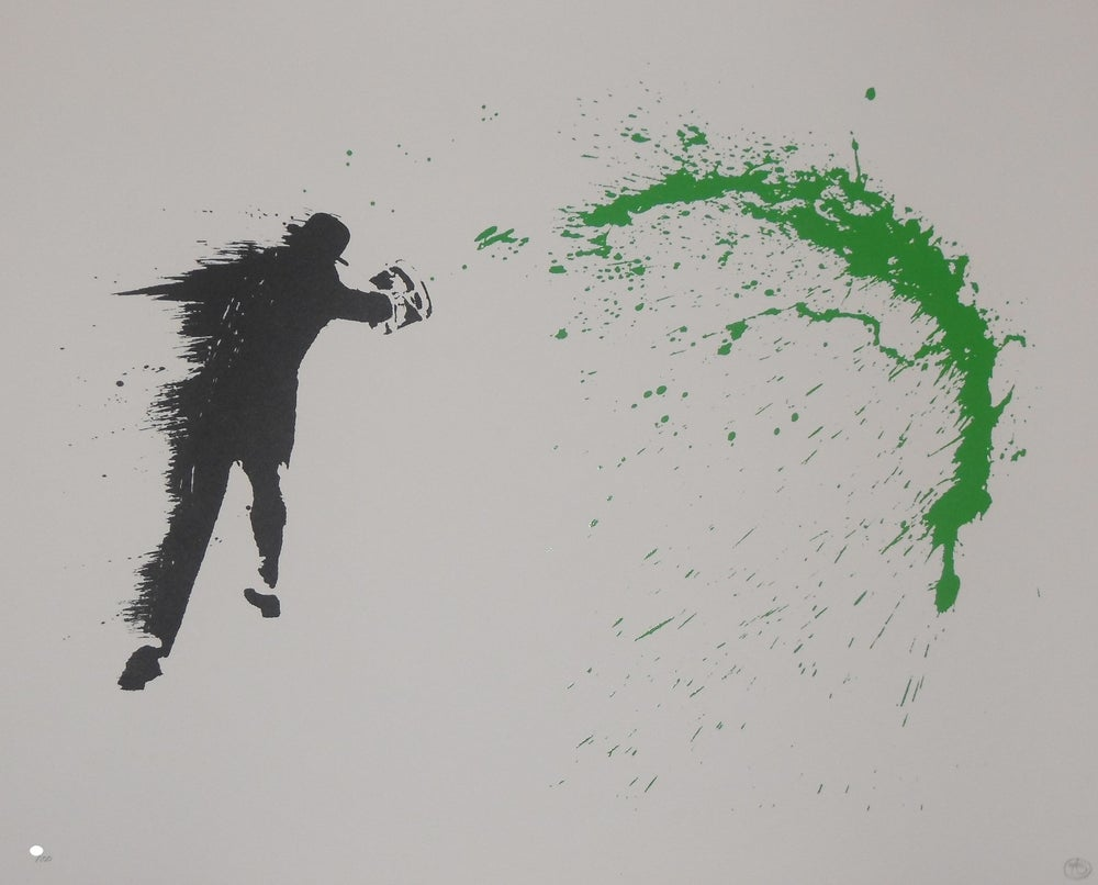 Image of NICK WALKER - PAINT CHUCKER - SCREENPRINT EDITION 100 - 85CM X 50.5CM