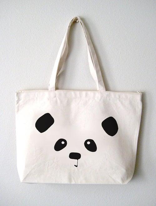 """Image of """"Panda Face"""" Tote Bag"""