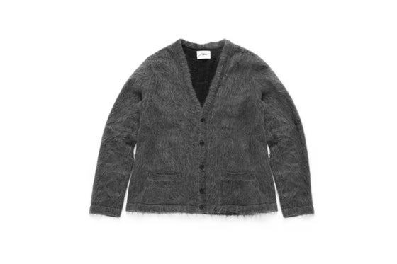 Image of SHADOWED MOHAIR CARDIGAN - SMOKE GREY
