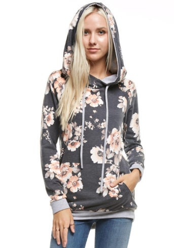 Image of Soft Floral Hoodie | 2 Colors