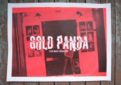 Image of gold panda serigraph