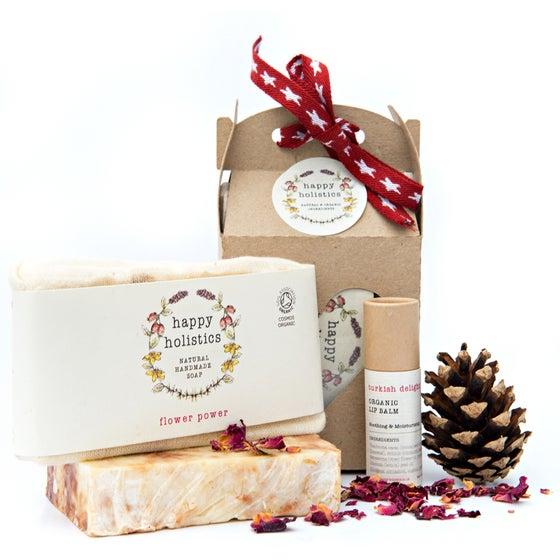 Image of Organic Soil Association Soap and Lip Balm Gift Set