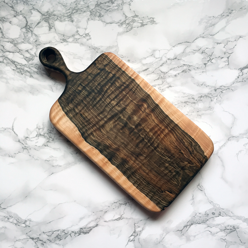 Image of Curly ambrosia maple serving board #3