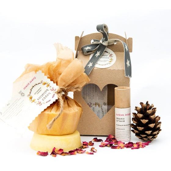 Image of Organic Soil Association Massage Bar and Lip Balm Gift Set