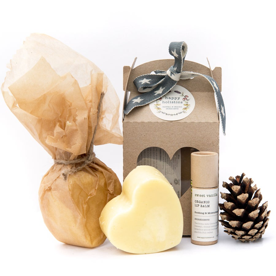 Image of Organic Soil Association Massage Bar and Lip Balm Gift Set