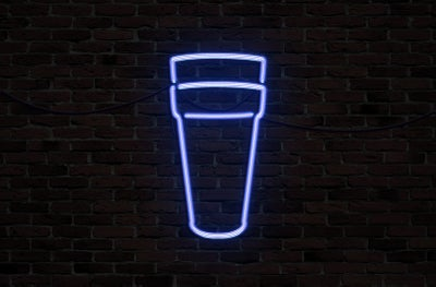 Image of neon double cup