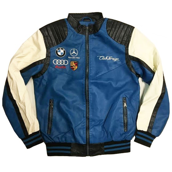 """Image of Club Foreign """"Premium"""" Race Jacket """"Royal"""""""
