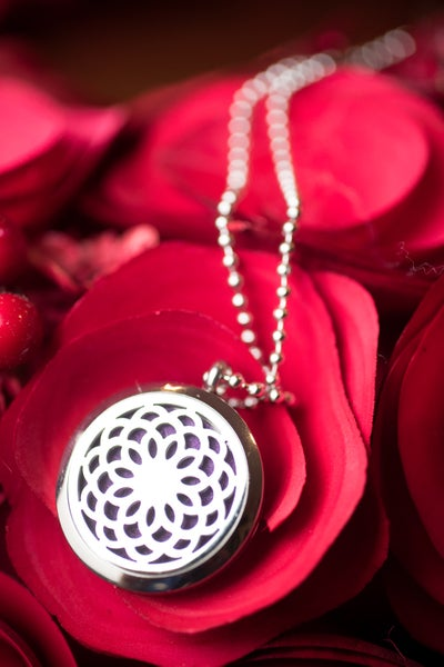 Image of Chrysanthemum Essential Oil Diffuser Necklace