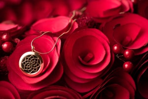 Image of Lotus Essential Oil Diffuser Necklace