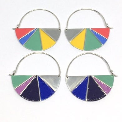 Image of Divided Half Round Earrings