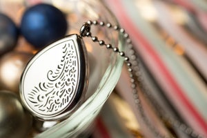 Image of Teardrop Paisley Essential Oil Diffuser Necklace
