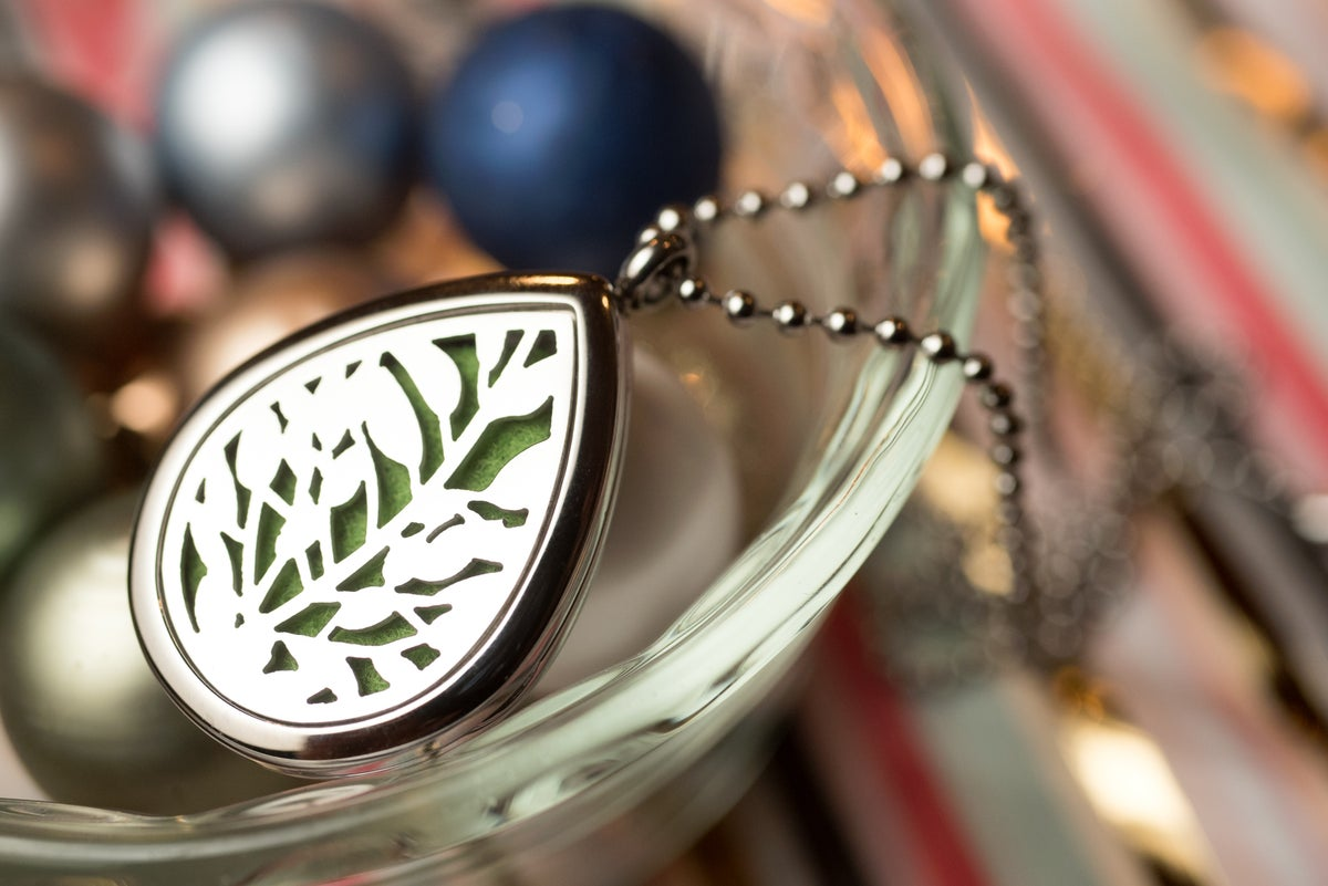 Image of Teardrop Reeds Essential Oil Diffuser Necklace