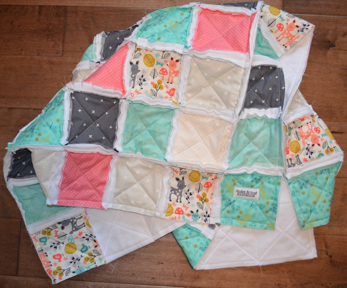 Image of Modern Heirloom Rag Quilt