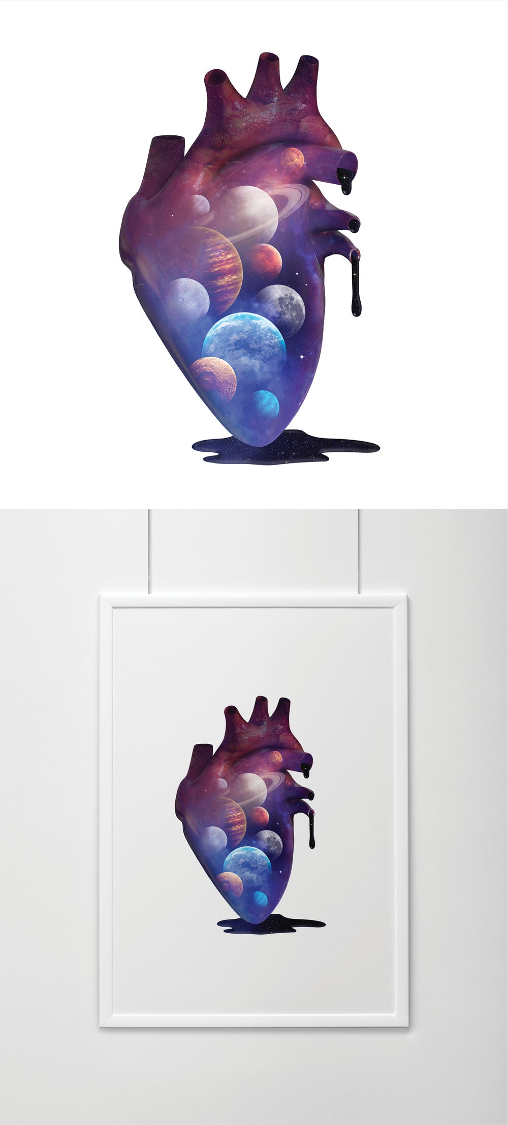 Image of Heart Planets Print