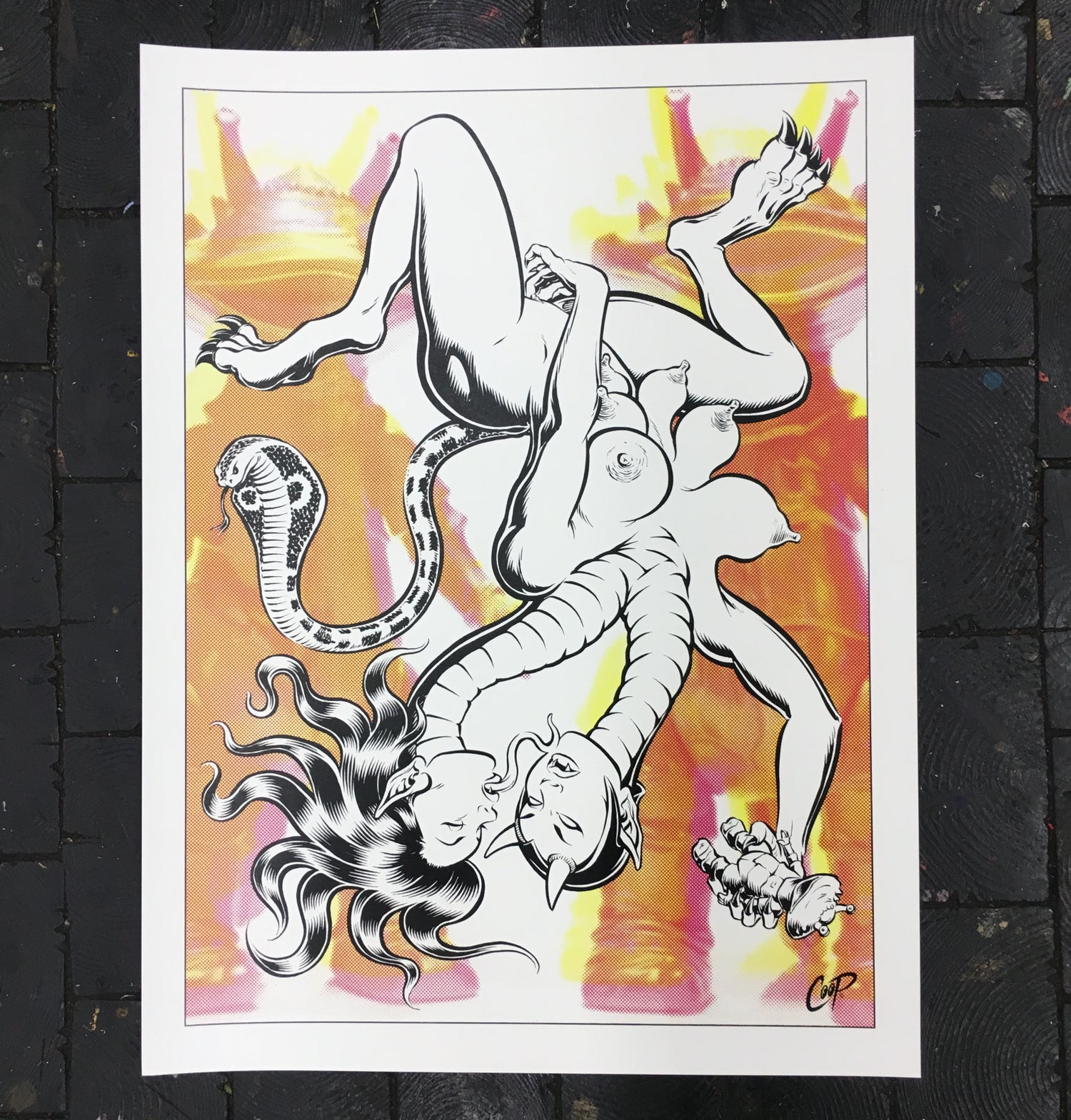 Image of CHIMERA silkscreen print