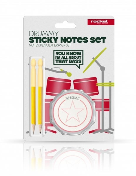 Image of Drum Sticky Notes Set