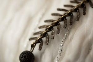 Image of Antique Brass & Buri Bead Essential Oil Diffuser Bracelet