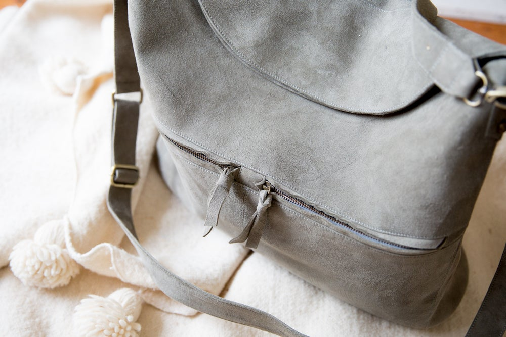 Image of Mama Bag - Olive Suede