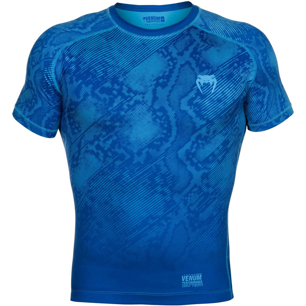 Image of Venum Fusion Compression T-Shirt Short Sleeves (Blue)