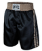 Image of Cleto Reyes Satin Classic Boxing Trunks (Black/Gold or Black/Bronze)