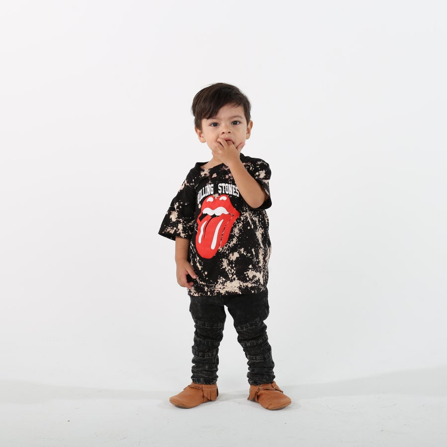 Image of KIDS Unisex 'ROLLING' Bleached Band Tee ( $20.00 )