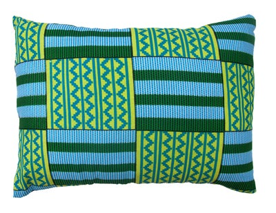 Image of Blue Kente Envelope Pillow Cover
