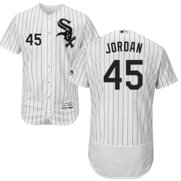 680b49b0ce9 45 Mens Michael Jordan Authentic Jersey Grey MLB Majestic Chicago White Sox  Flexbase Collection Image of White Chicago White Sox ...