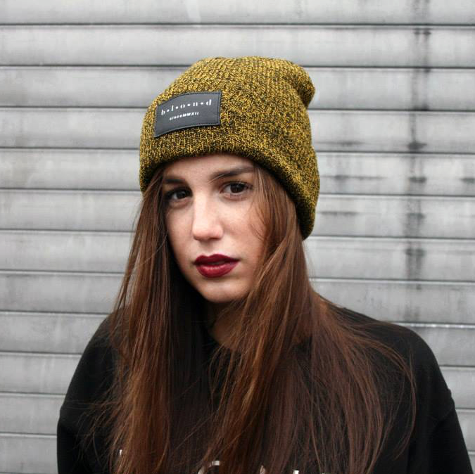 Image of heather yelløw beanie
