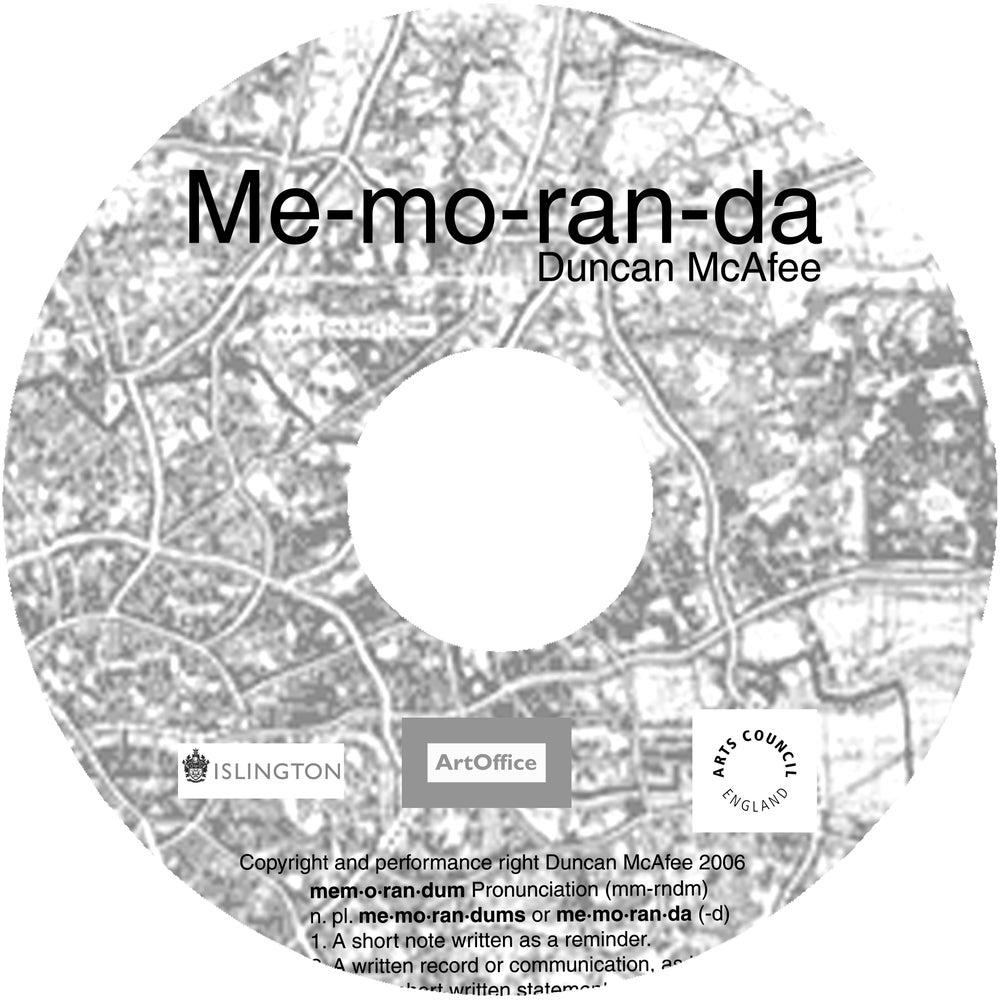 Image of Me-mo-ran-da - Audio CD and Booklet