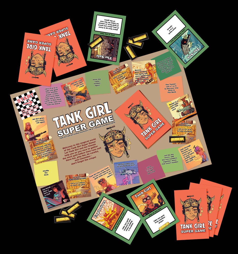 Image of Tank Girl Gold Poster Magazine (with Super Game!)