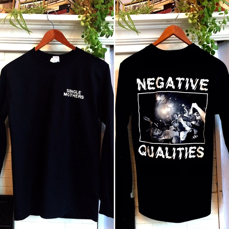Image of Negative Qualities - Long Sleeve, BLACK/WHTE