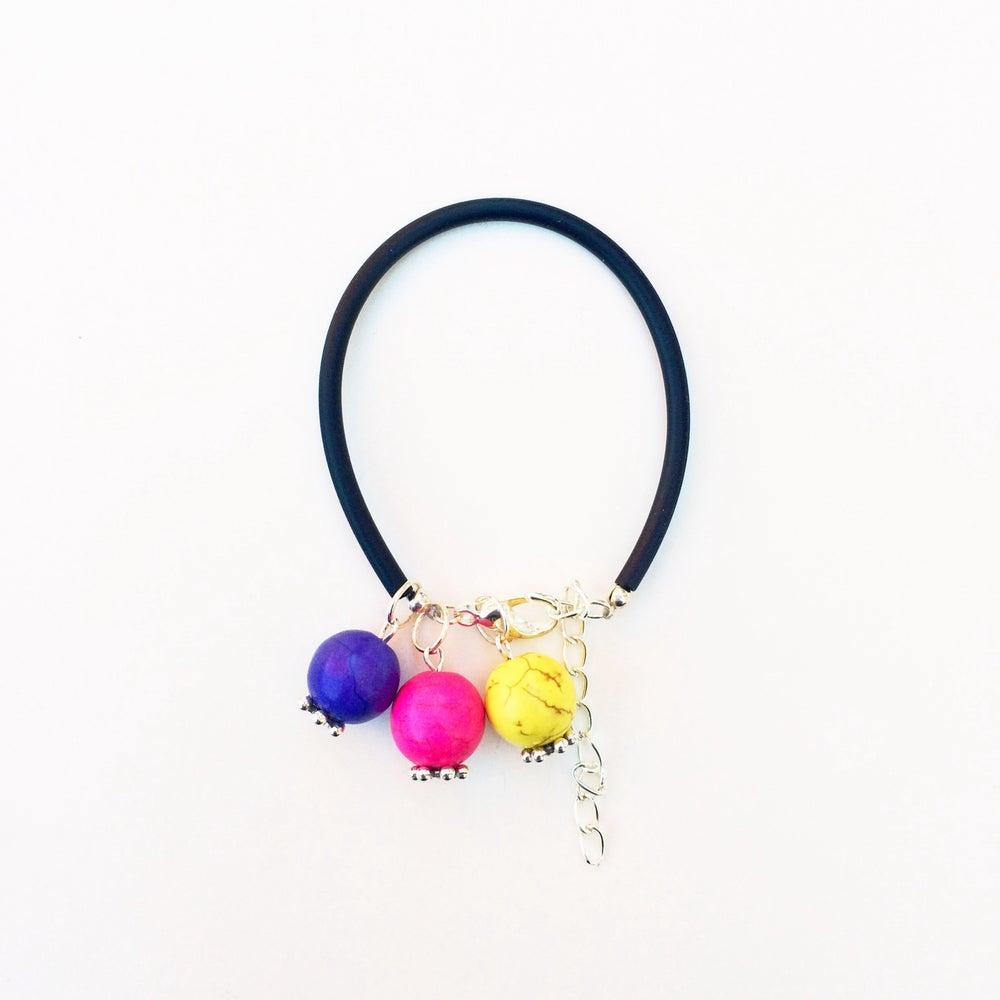 Image of Bubble Gum Howlite and Rubber Bracelet