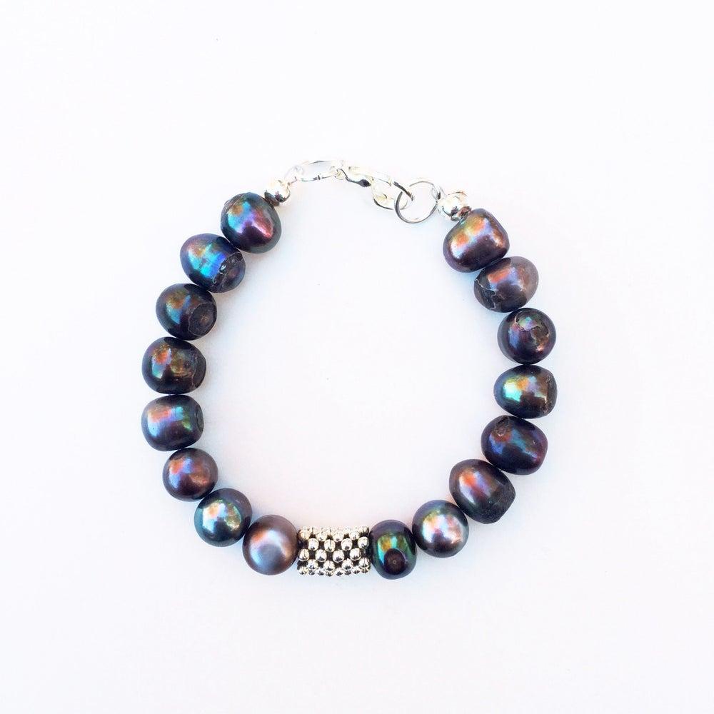 Image of Freshwater Pearl Bar Bracelet
