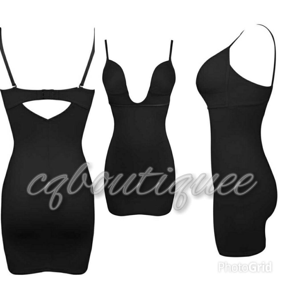 Image of Cq deep cut firm dress undergarment
