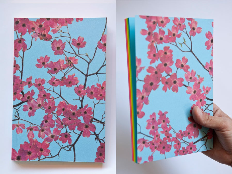 Image of Dogwood (with rainbow paper)  Notebook