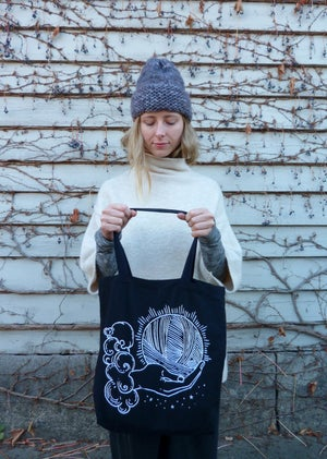 Image of Ace of Knits limited black tote
