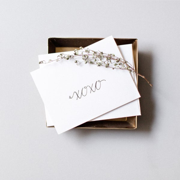 "Image of ""XOXO"" Letterpress Card"