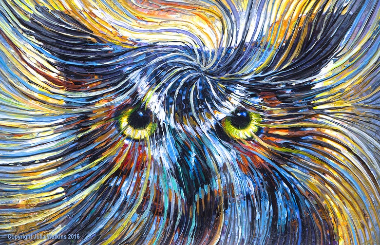 Image of Owl Spirit Energy Painting - Giclee Print