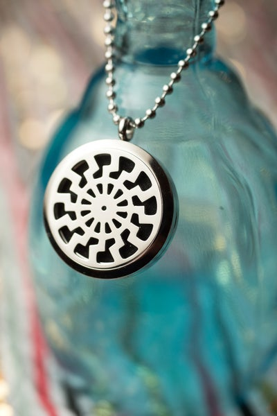 Image of Tribal Sun Essential Oil Diffuser Necklace
