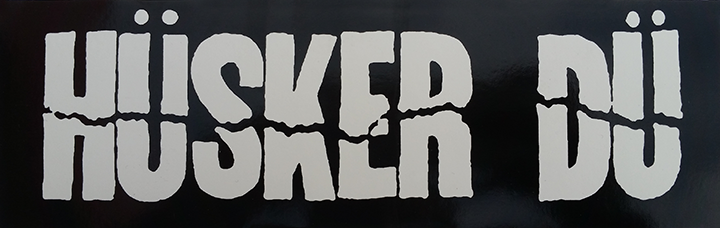 Image of HÜSKER DÜ RECTANGULAR LOGO STICKER