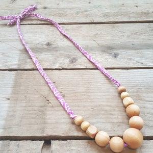 Image of Natural Wood Nursing Necklace