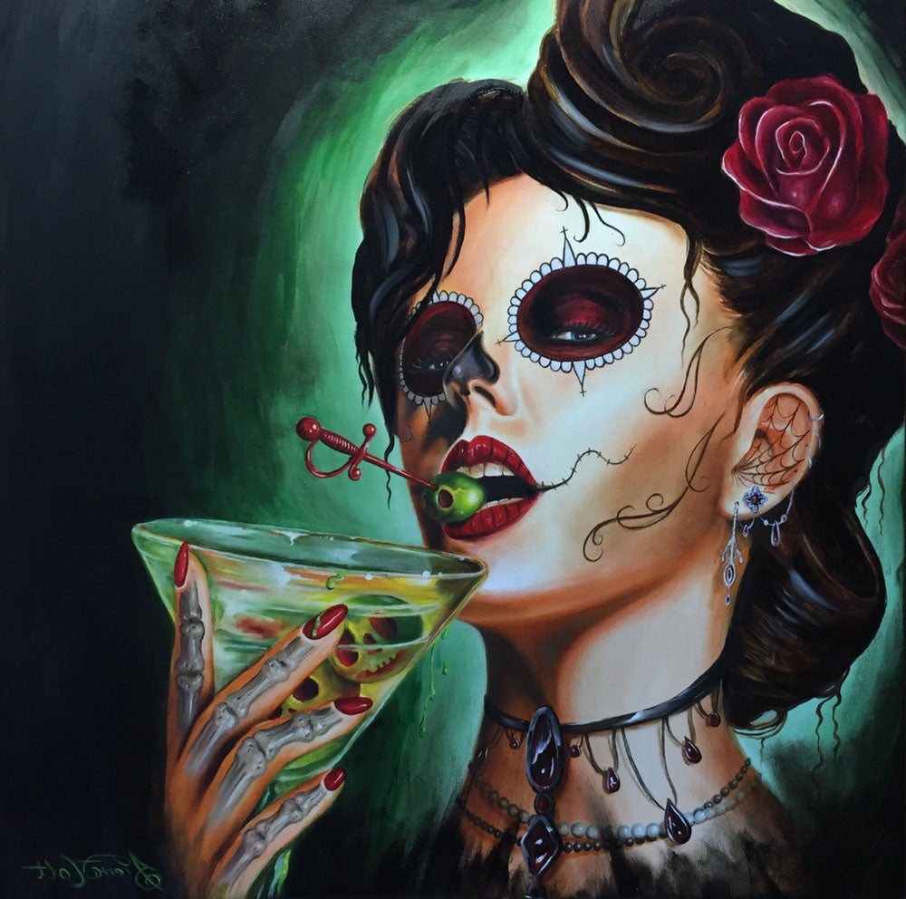 "Image of ""A Drink With the Dead"" print"